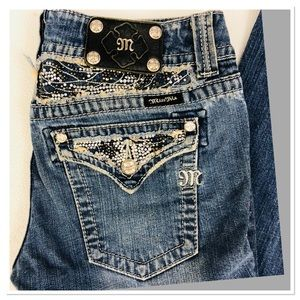 Miss Me Jeans bling embellished bootcut 30
